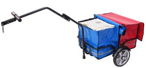 Flexx mit rot und blaue Taschen o Hintergrund